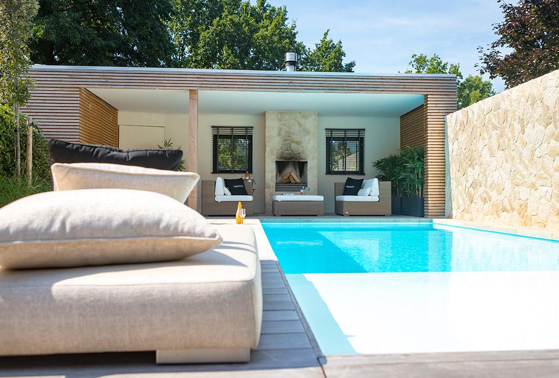 Spiksplinternieuw Maastricht   Luxe tuin met zwembad en poolhouse - Tuinontwerp Limburg DQ-29